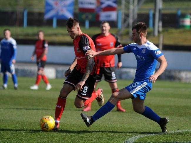 Luc Bollan in action for Cowdenbeath last season.