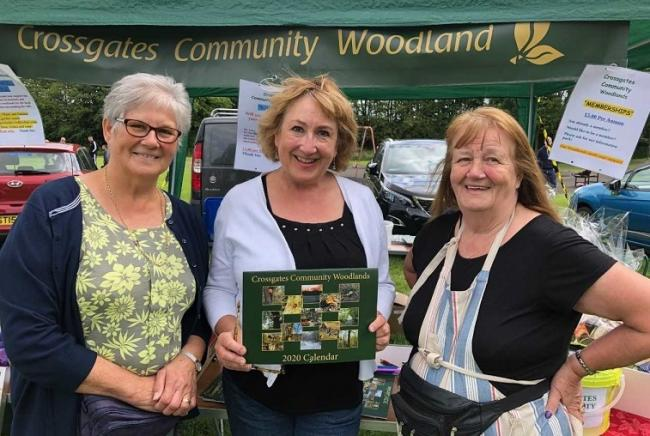 Annabelle ewing gets her copy of the Community Woodland Calendar.