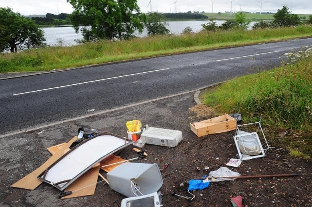 The mess left at the side of Loch Gelly.