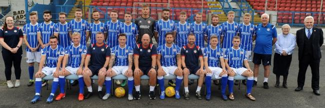 The Cowdenbeath squad for the new season.