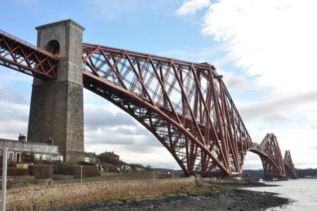 Forth Bridge closed to trains after concern for man's welfare