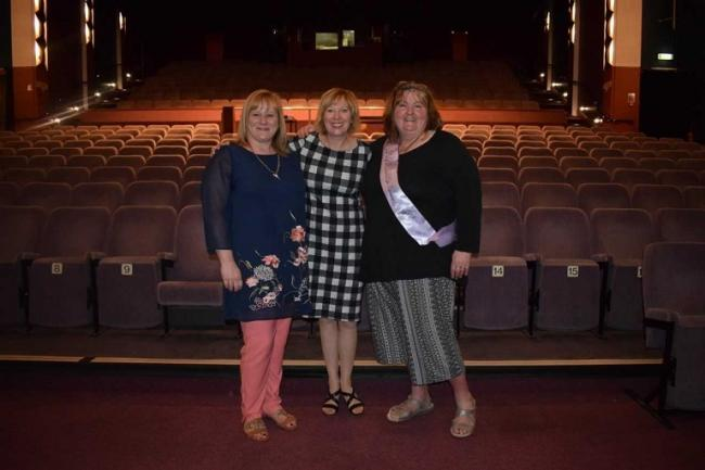Audrey Cunningham, CARF, Lesley Laird MP, and Rosemary Dickson, Waspi Scotland