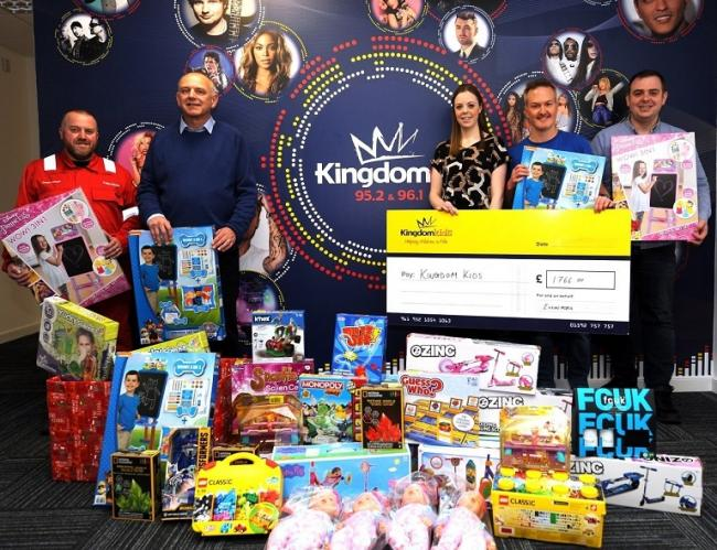 The donation to the Kingdom Kids charity.