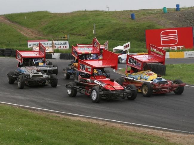 The Racewall cars don't look out of place at Knockhill.