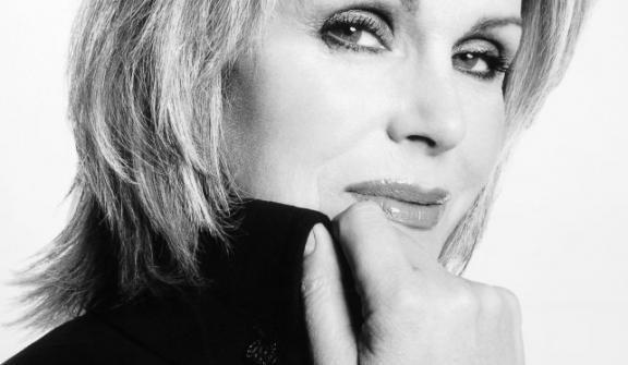 Joanna Lumley at the Adam Smith Theatre.