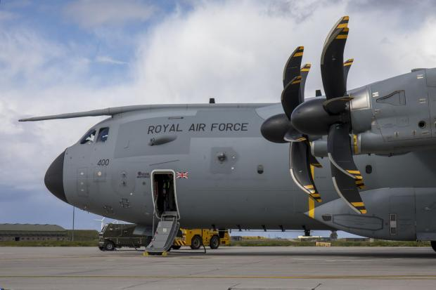 Central Fife Times: This is an Airbus A400M Atlas, the type of airfact seen over Glasgow in recent weeks (Image: RAF)