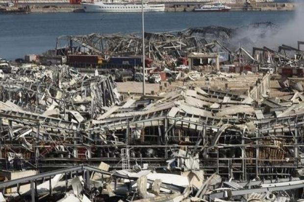 The damage caused in Beirut by the explosion.