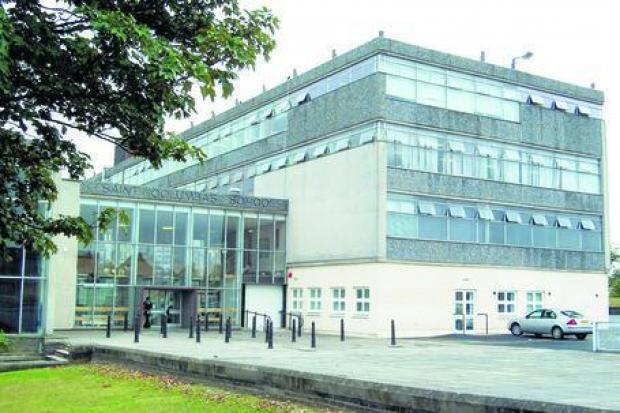 The 14-year-old victim was attacked at St Columba's High School in Dunfermline.