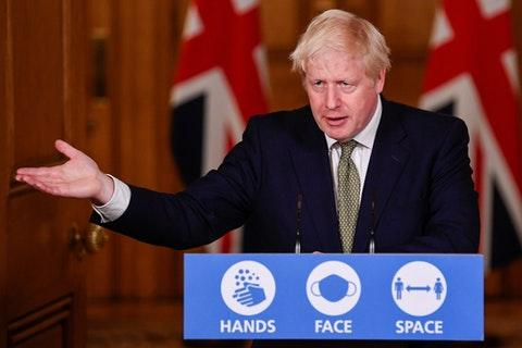 Central Fife Times: Boris Johnson announced new measures for England on Monday