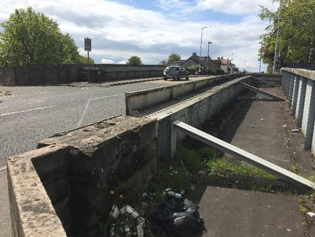 Cowdenbeath's Broad Street rail bridge is one of nine major projects to be carried out by Fife Council