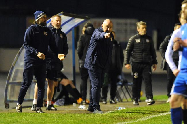 Bollan watched on as his side slumped to another defeat