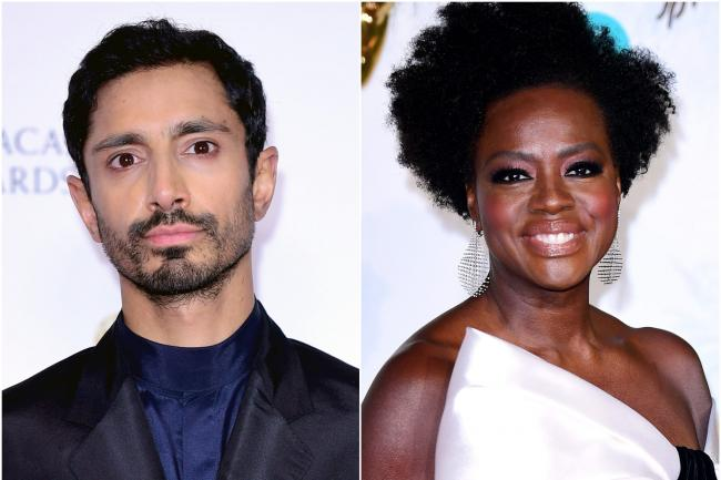 Composite pic of Riz Ahmed and Viola Davis