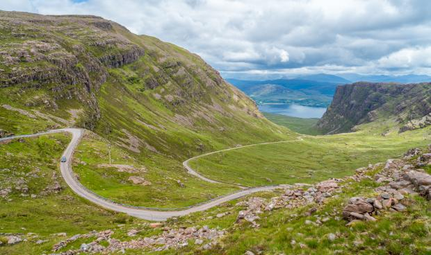 Central Fife Times: Bealach na Ba on the Applecross peninsula in Wester Ross. Picture: iStockphoto/PA