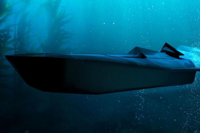 An underwater fast strike vehicle