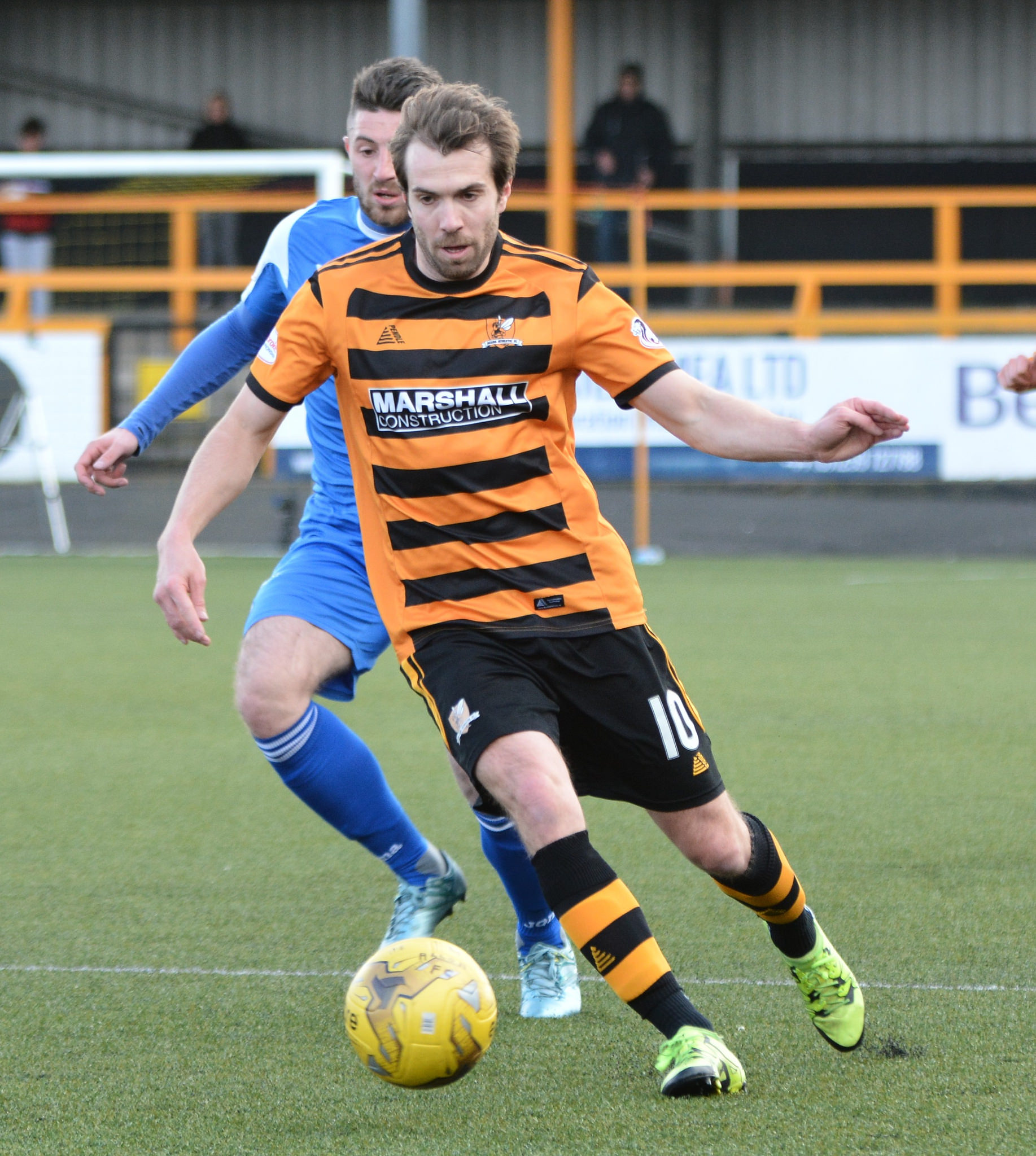 Alloa midfielder Graeme Holmes is closing in on 200 appearances for the club