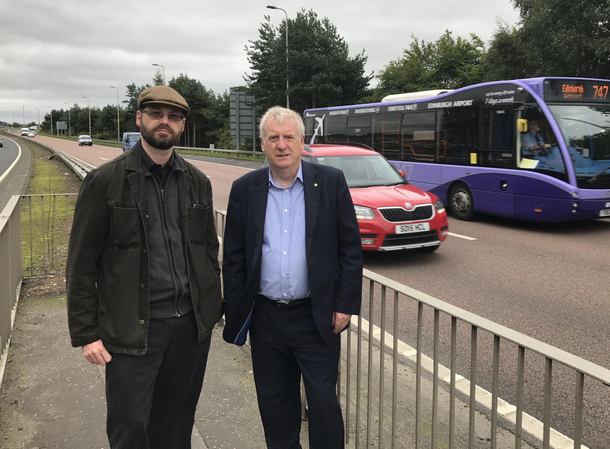 Alan Scott and MP Douglas Chapman highlighted safety fears at the A92 last year.