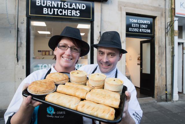 Tom and sister Lorna delighted with the success at the Scottish Pie championships.