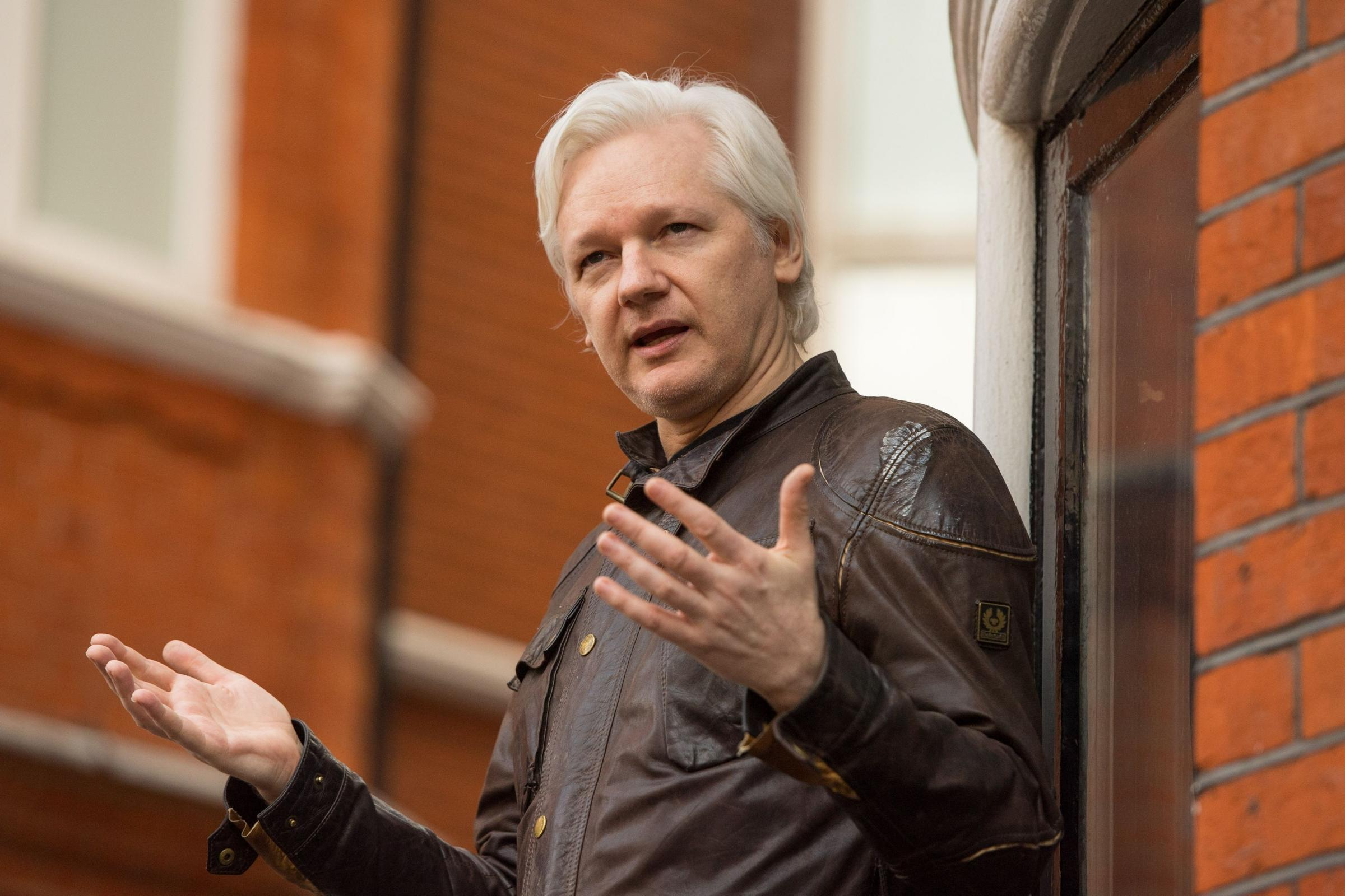 Julian Assange has been living inside the Ecuadorian Embassy in London for more than five years (Dominic Lipinski/PA)