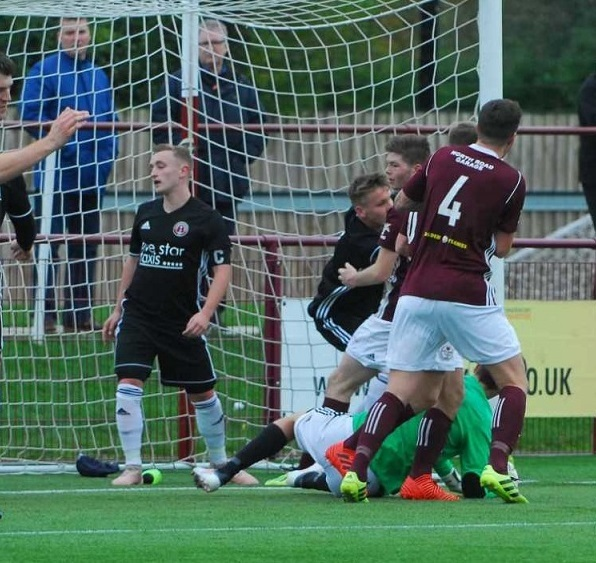 Kelty celebrate taking the lead. Picture by Ted Milton.