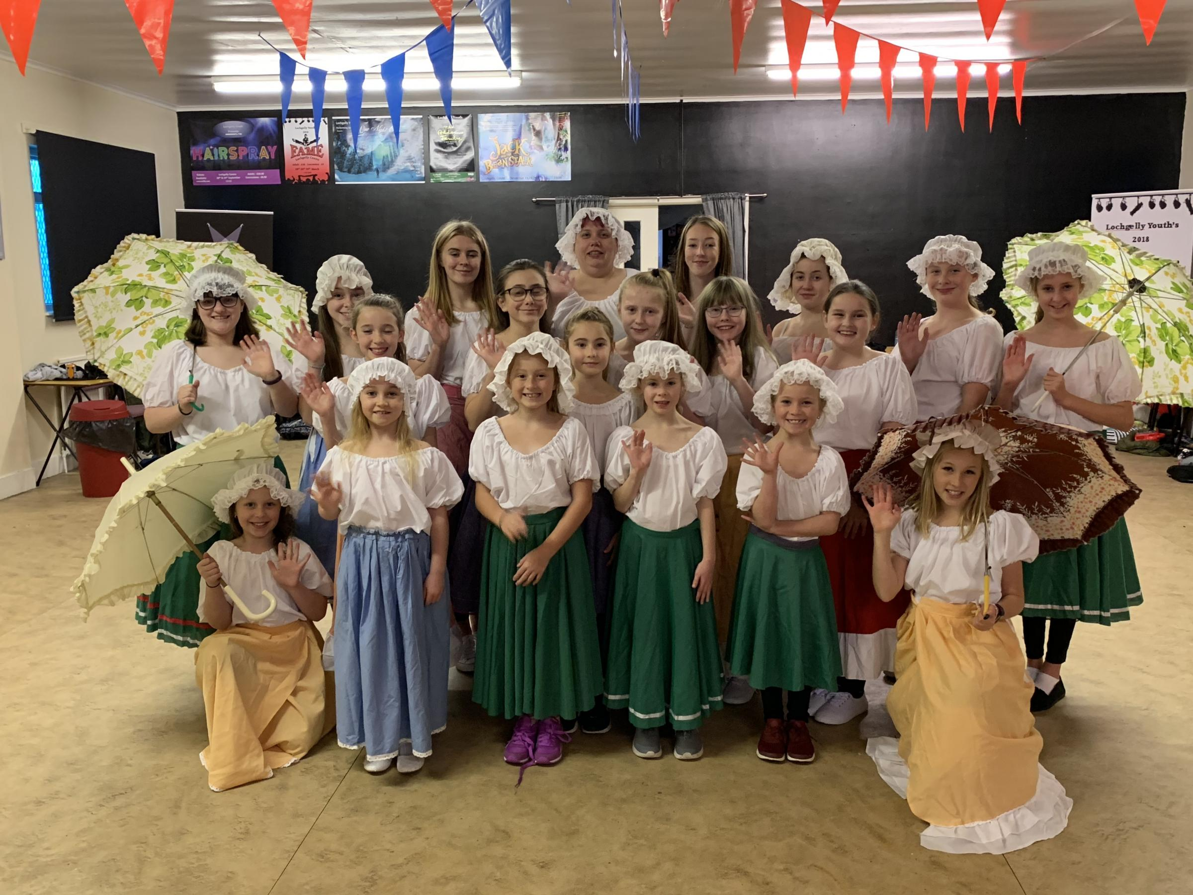 Lochgelly's Nardone Academy of Performing Arts ready for Centre panto.