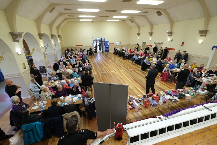 The packed hall at the Elderly Forum.