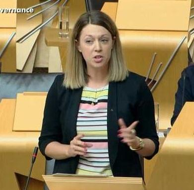 Jenny Gilruth making points.