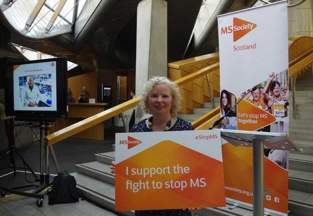 Claire Baker is backing the work which is aimed at finding ways of helping those with MS.