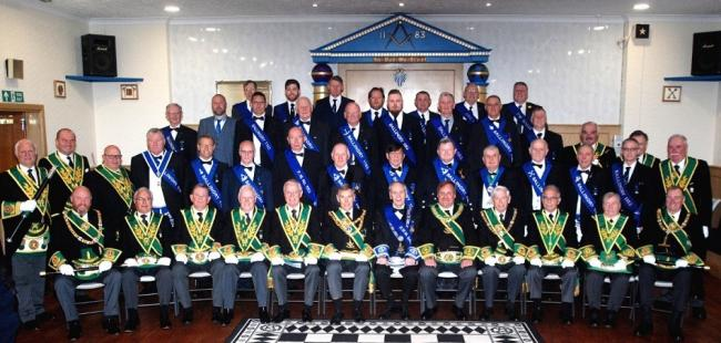 Members of Lodge Ballingry1183 and their guests at the centenary celebration.