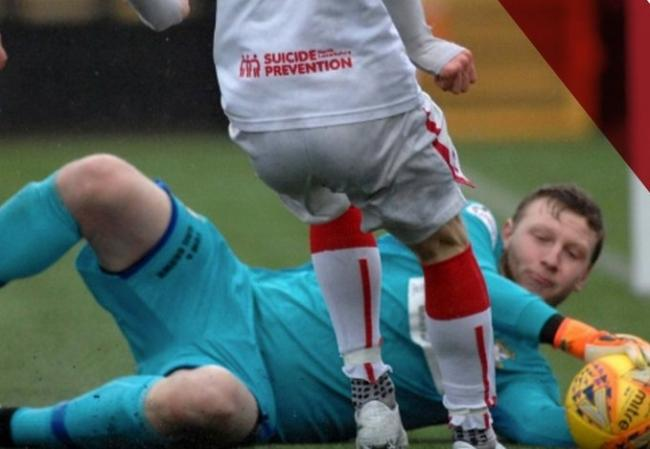 Ben McKenzie in action for Airdrie. Pic courtesy of Airdrie FC.